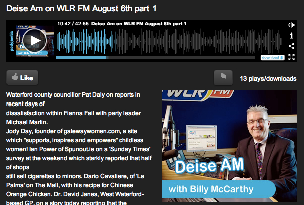 Deise AM Radio Interview - Jody Day - 6 August 2013